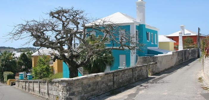 A typical street scene on the Bermuda