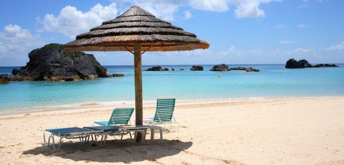 Sandy beach in the Caribbean islands