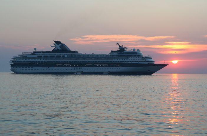Cebrity Cruises ship sailing in the Far East