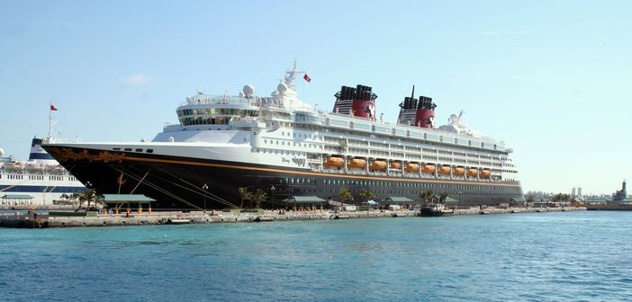Disney Cruise Line ship in Nassau, Bahamas