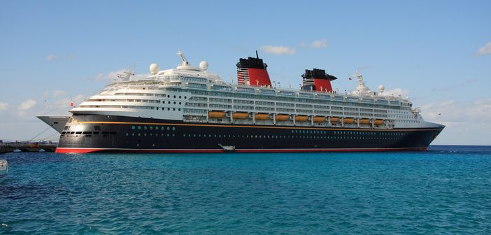 Disney ship in the Caribbean