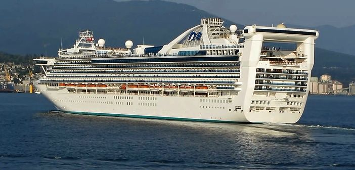 Princess cruise ship departing from Vancouver, Canada