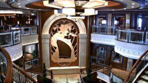Grand Lobby on Cunard's Queen Elizabeth