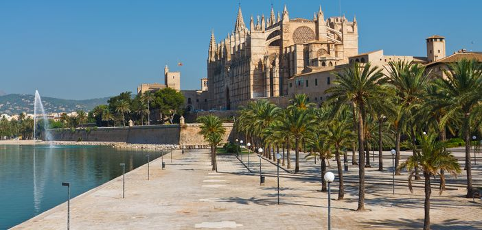 Palma de Mallorca, a popular cruise port in the Mediterranean region