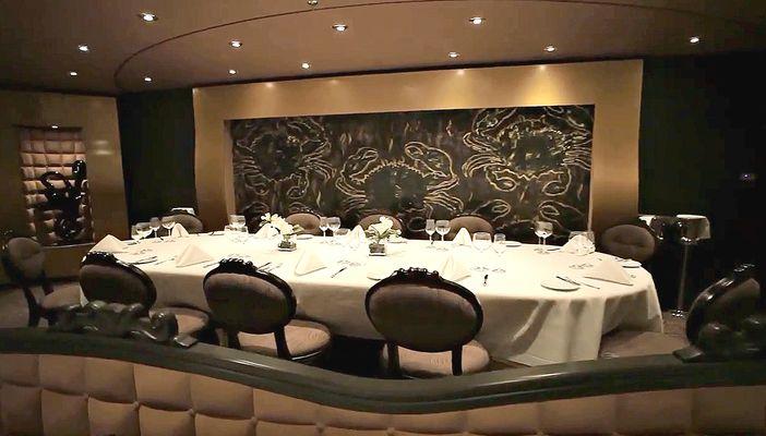 The Black Crab restaurant on the MSC Divina