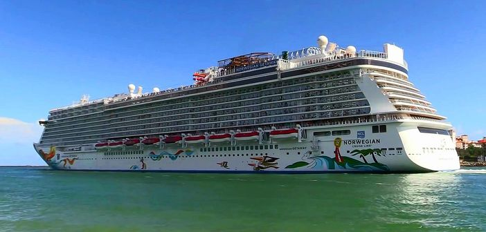 NCL ship sailing out from Miami, Florida
