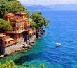 Scenic view of Portofino village: Cruise to the Mediterranean