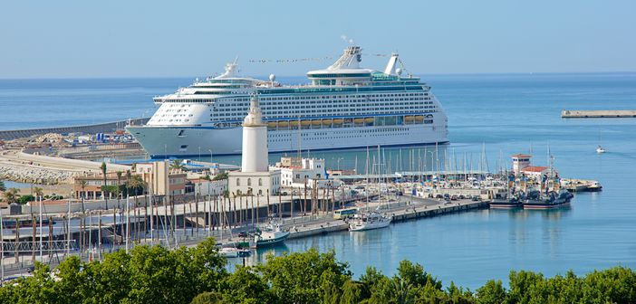 Port of Major Cruise Lines in Malaga, Spain