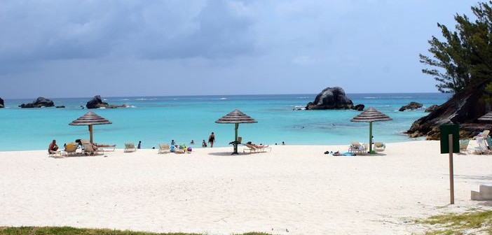 The Famous Elbow Beach in Bermuda