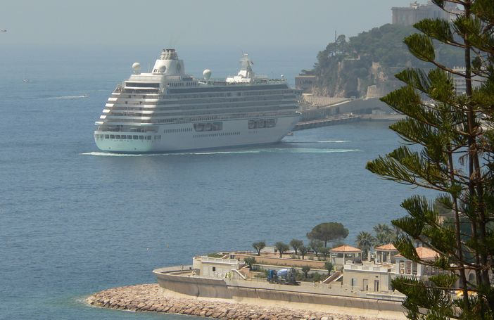 Crystal Symphony in the Mediterranean