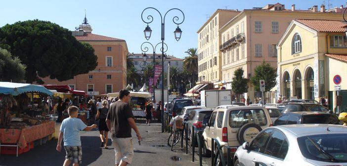 Open air market place