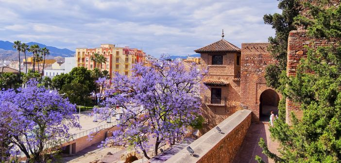 The Alcazaba - old fortification in Malaga Andalusia Spain