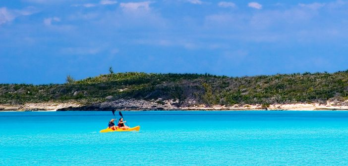 Kayaking, as one of the best things to do in Half Moon Cay