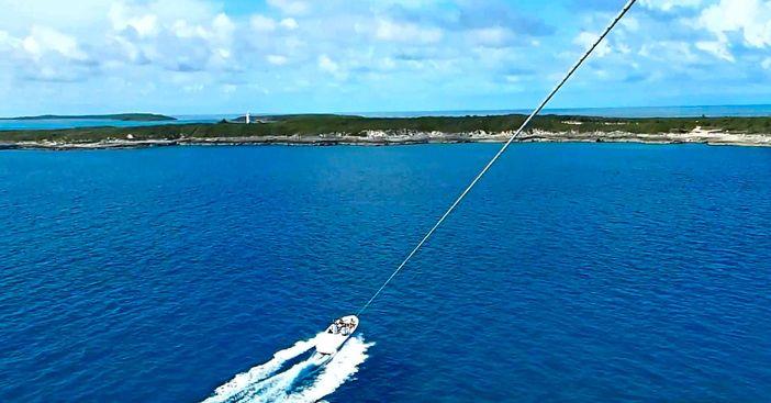 Parasailing at Great Stirrup Cay