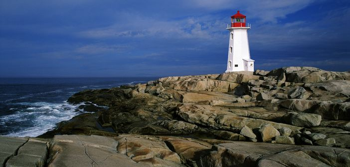 Peggy S Cove Lighthouse In Nova Scotia