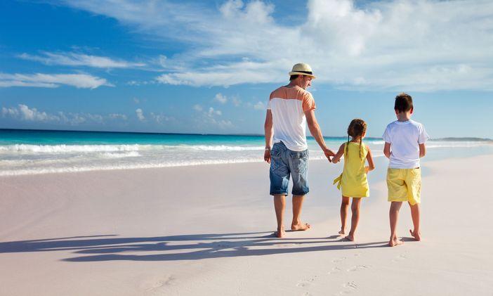 Family on Half Moon Cay
