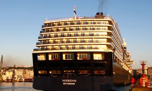Holland -America-cruise-ship-docked-in-Spain