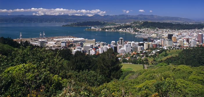 View of Wellington from the distance. Attractions in New Zealand