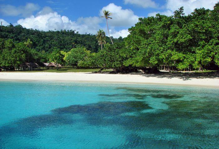 Vanuatu's Champagne Beach, South Pacific Island