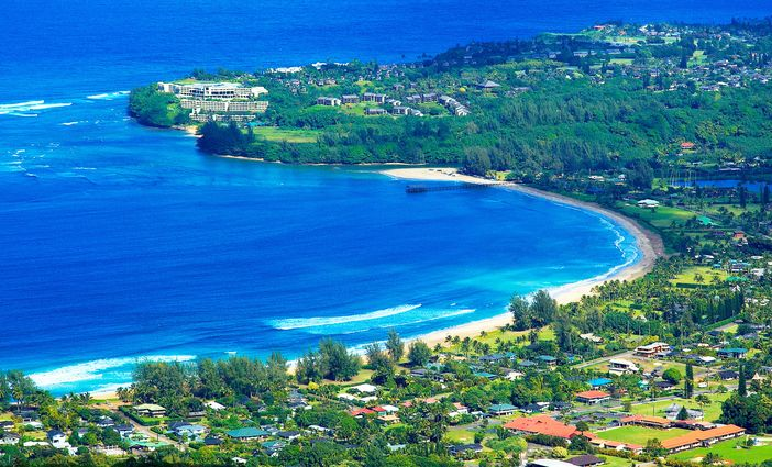 Hanalei Bay, located in Kauai Island, Hawaii, is always on the list of the top 10 beach destinations in the world