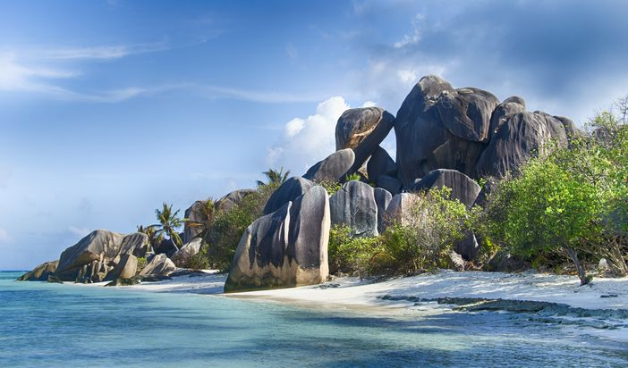 Anse Source d`Argent of La Digue island in Seychelles always has a good position among the top 10 beach destinations in the world