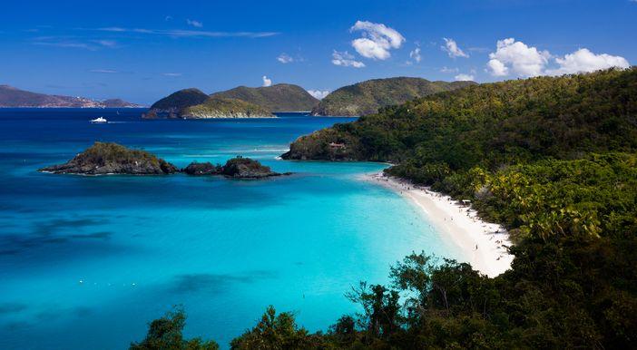 Trunk Bay at St John, US, Virgin Islands