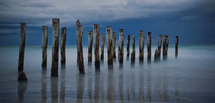 Wooden pier at Dunedin, top attractions in New Zealand