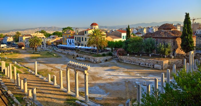 Top Attractions in Athens: Ruins in Plaka area