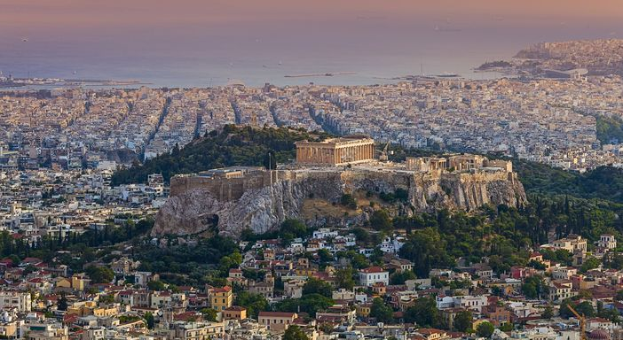 Acropolis, the highest point of Athens