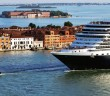 Mediterranean cruise from Venice: huge ship arriving in Venice