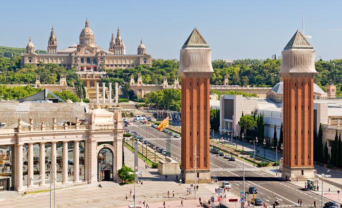 Plaça d'Espanya and Palau Nacional in Barcelona