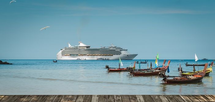 Far East Destinations to go: Patong, Phuket,Thailand. Boats and Royal Caribbean cruise ship