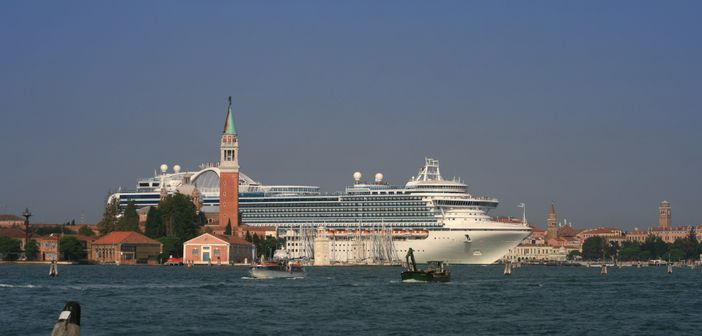 Princess Cruise Ship Leaving Venice