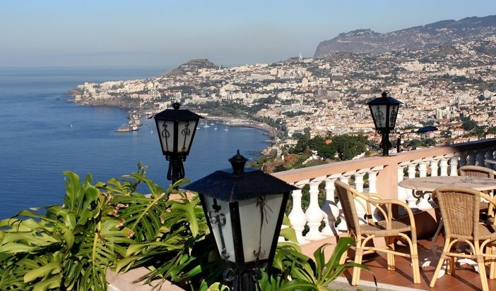 View over the bay in Funchal, Madeira, Portugal