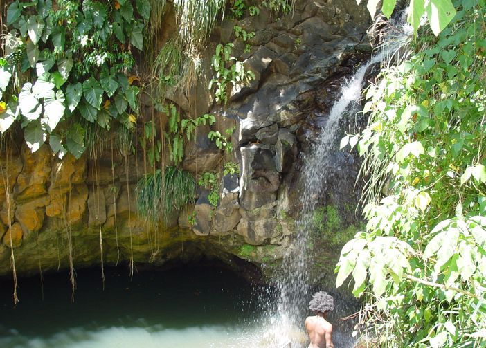 Annandale Waterfalls located at the outskirts of St. George's