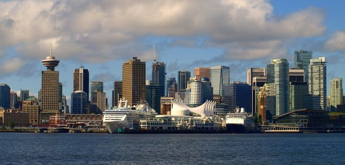 Cruise ships moored in Vancouver