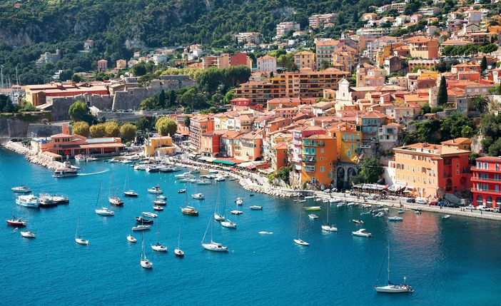 French Riviera: Tiny harbor of the picturesque Villefranche
