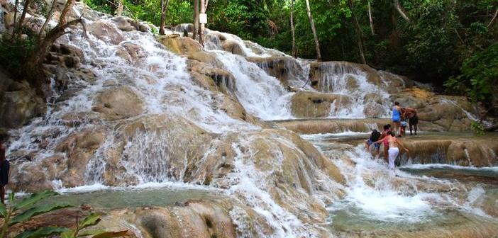Enjoy The Picturesque View While Climbing Dunn S River Falls In Ocho Rios Jamaica Cruise Panorama