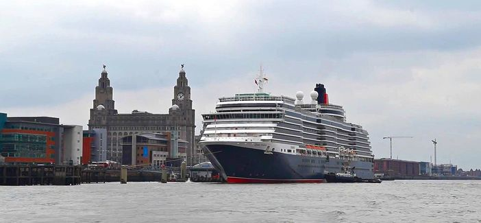 Queen Victoria vessel in Liverpool, UK