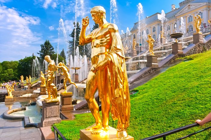 Visiting Peterhof Gardens is one of the best things to do in St. Petersburg