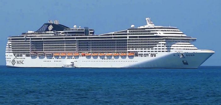 MSC Divina cruise ship tendering