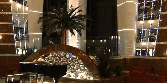 Beautiful atrium on the MSC Divina cruise ship