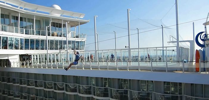 One of the best Allure of the Seas features: Zip Line