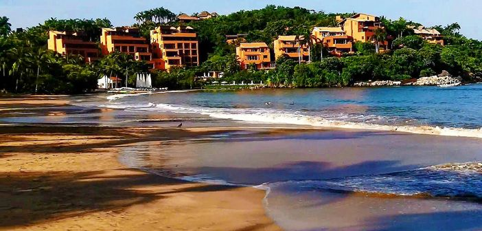Beach in Ixtapa, Mexican Riviera