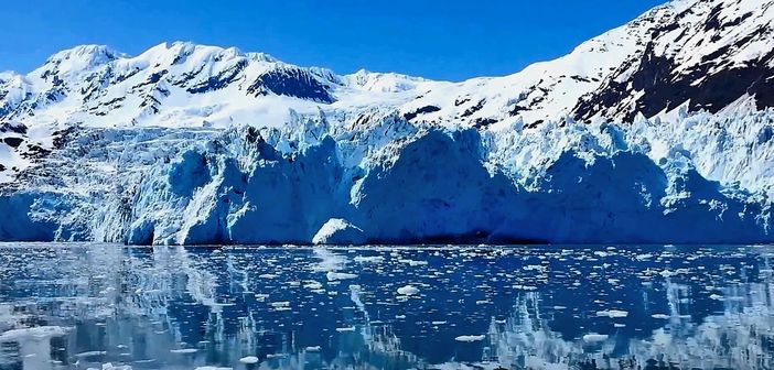 Top rated cruise destinations: Alaska, glacier view from the sea