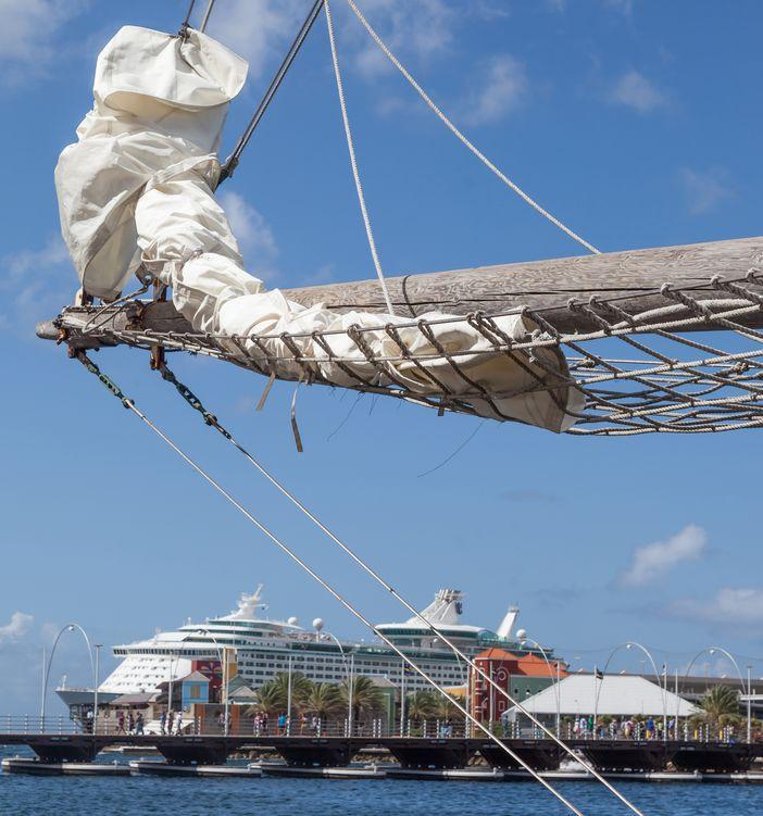 Royal Caribbean ship in Curacao