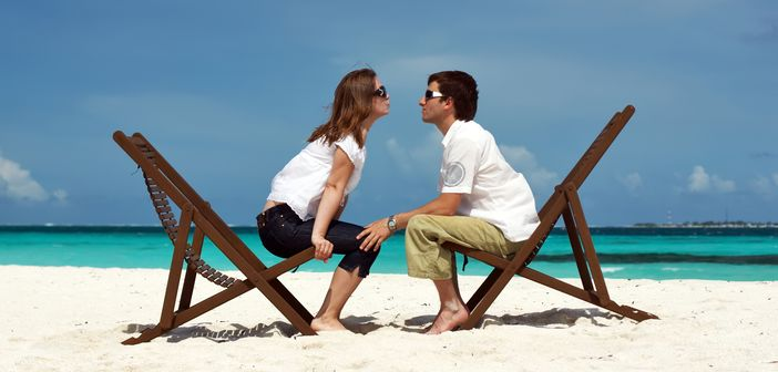 Honeymooners enjoying each other's company
