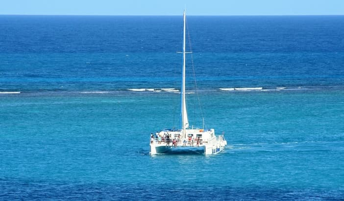 Catamaran party cruise