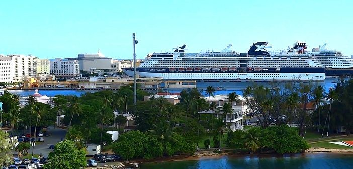 Cruise harbour in San Juan, Puerto Rico