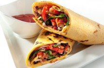 Burrito - tortilla wrap filled with vegetables